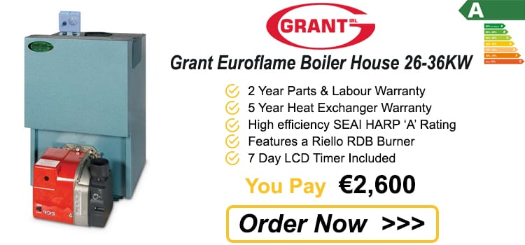 Grant Euroflame Boiler House 26 - 36 KW - Condensing Oil Boiler Price