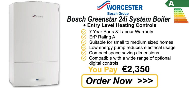 Worcester Bosch Greenstar 24i System Gas Boiler +Heating Controls