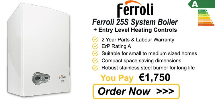 Ferroli 25S System Boiler + Heating Controls - Boiler Replacement