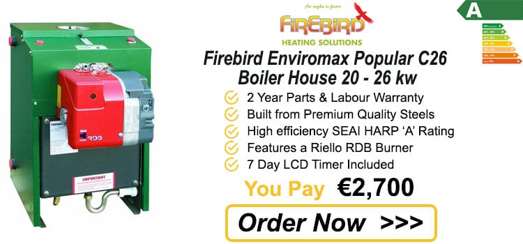 Firebird Enviromax Popular C26 Boiler House 20 - 26 kw