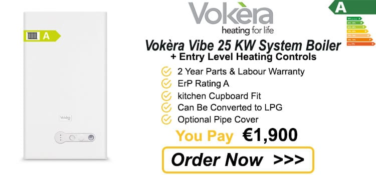 Vokera Vibe 25 KW System Gas Boiler + Heating Controls
