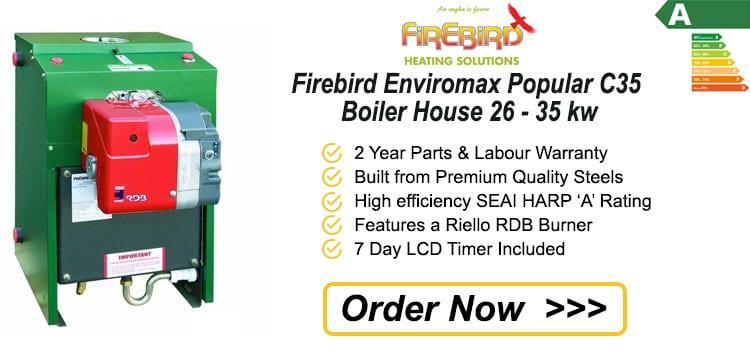 Firebird Enviromax Popular C35 Boiler House 26 - 35 kw